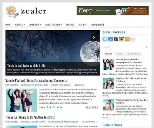 Zealer Blogger Template Free Download