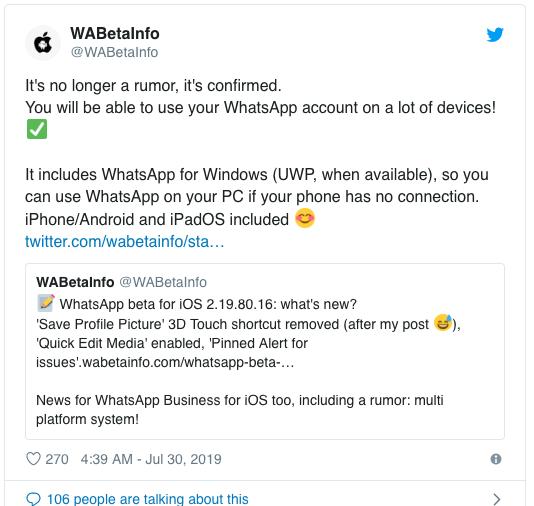 Bocoran Besar Whatsapp Terbaru, Tak Perlu Lagi Terhubung ke Akun Whataspp Ponsel Untuk  Pakai Whatsapp Web