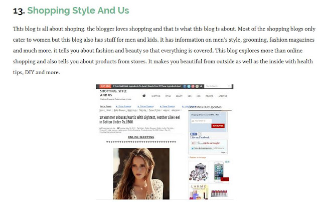 SSU GOT FEATURED   1. On Baggout.com for being one of the best Shopping Blogs in India.