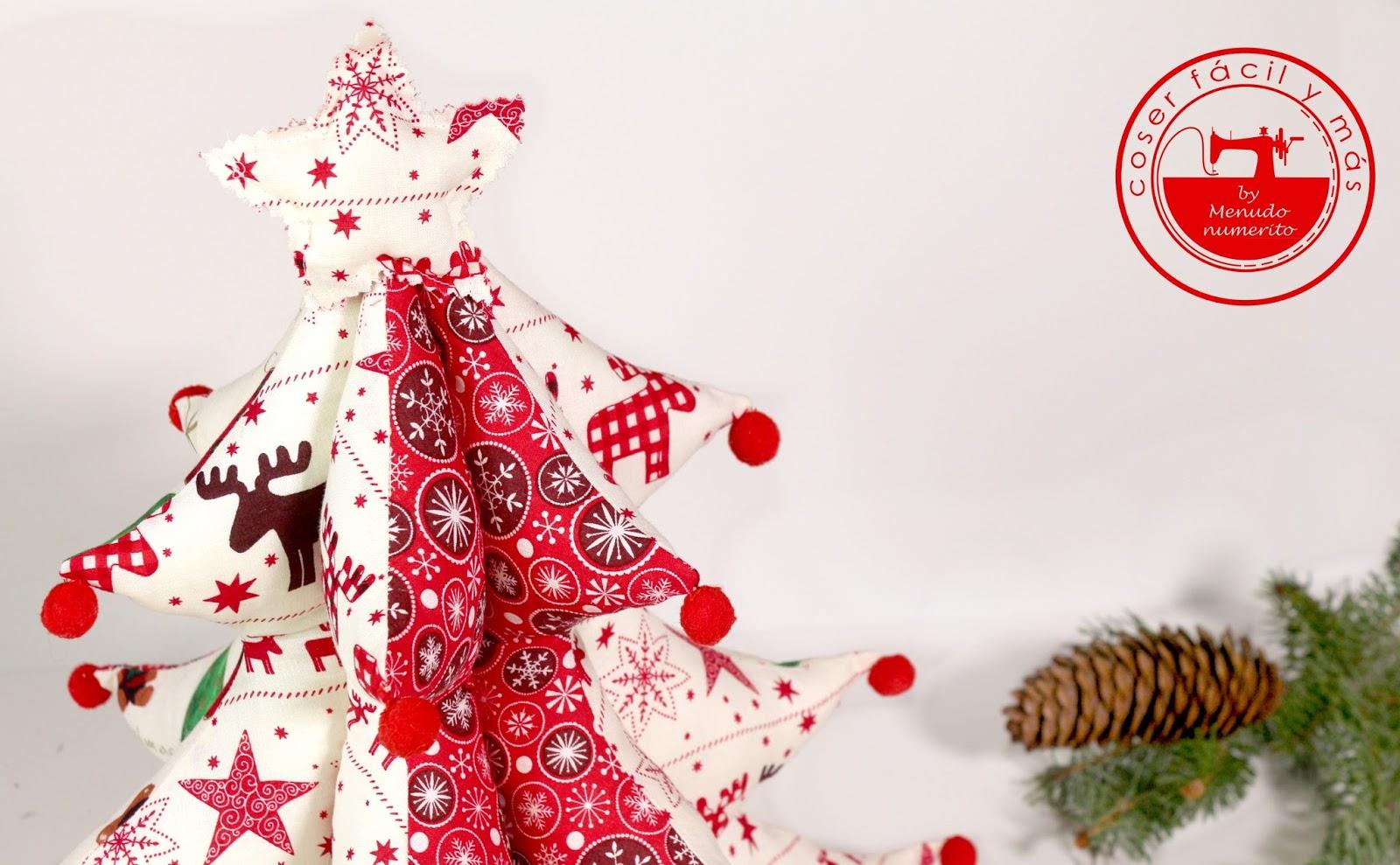 Árbol de tela, una idea para decorar tu Navidad - El blog de Coser ...