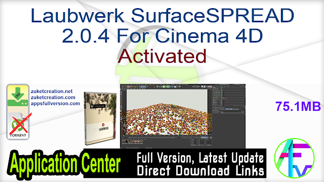 Laubwerk SurfaceSPREAD 2.0.4 For Cinema 4D Activated