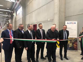 Alstom: inaugurata a Nola una nuova area