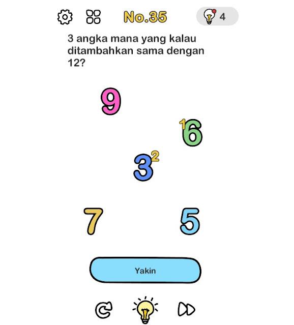 3 angka mana yang kalau ditambahkan sama dengan 12?