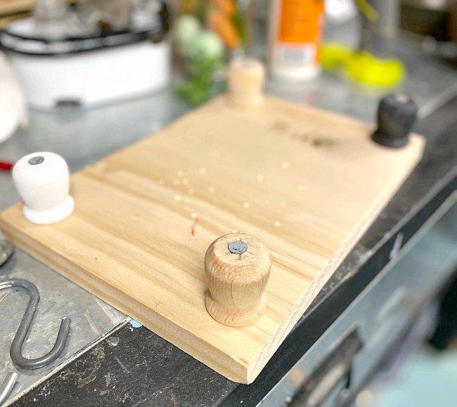 Scrap wood table riser DIY