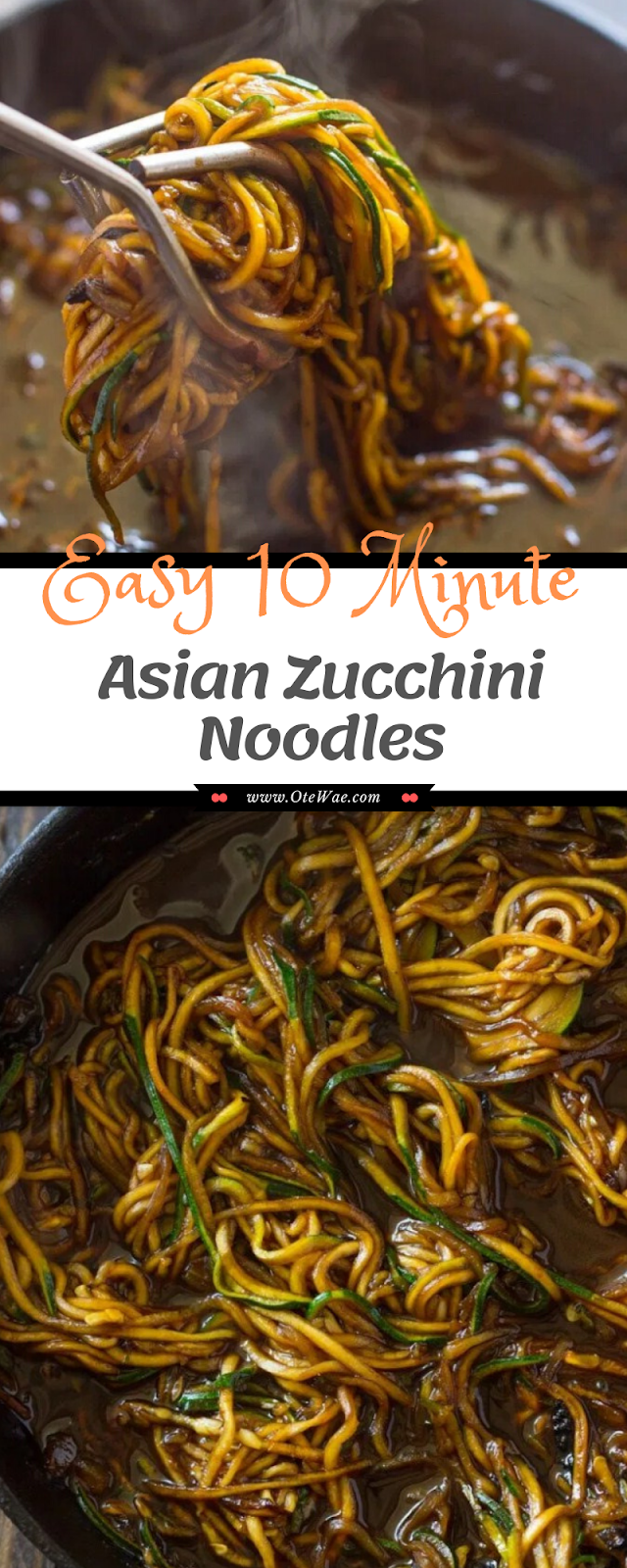Easy 10 Minute Asian Zucchini Noodles