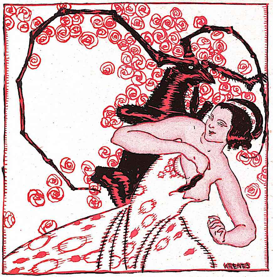 an odd Heinrich Krenes magazine illustration, 1923