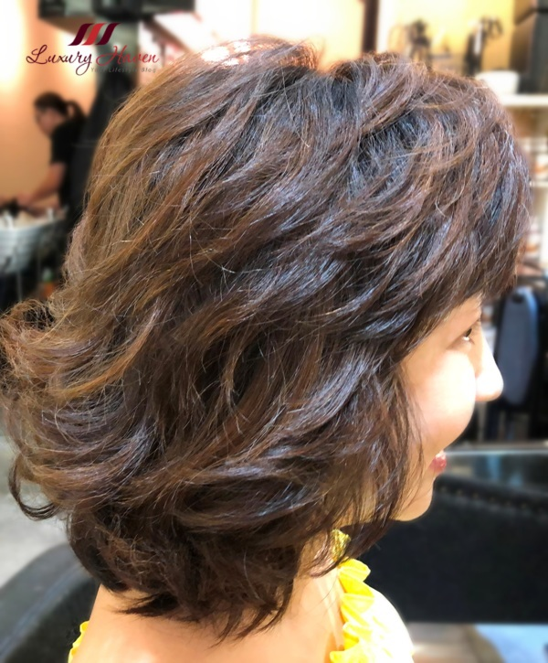 h4u salon asian japanese root perm short hair