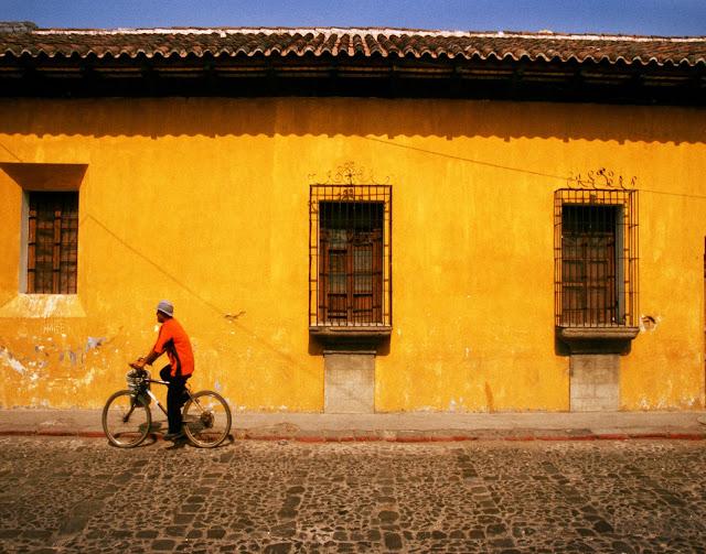 Cycling in Antigua, Guatemala