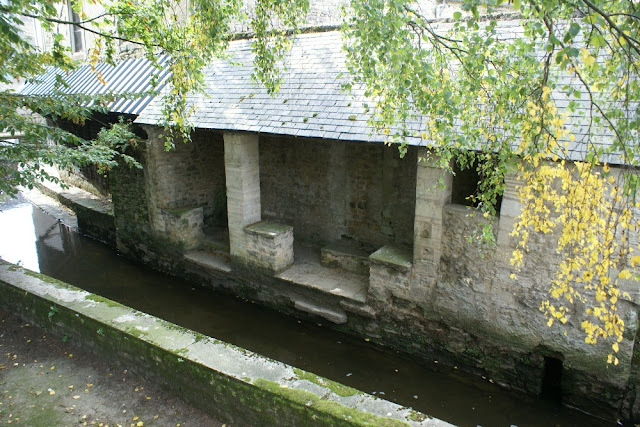 Old wash house  in Bayeux, Normandy