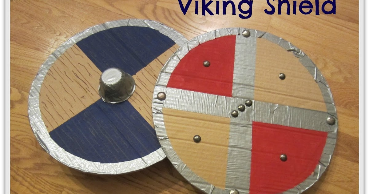 Relentlessly Fun Deceptively Educational Viking Shield Upcycled History Craft