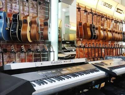 toko perlengkapan musik akustik dan elektrik kota Medan
