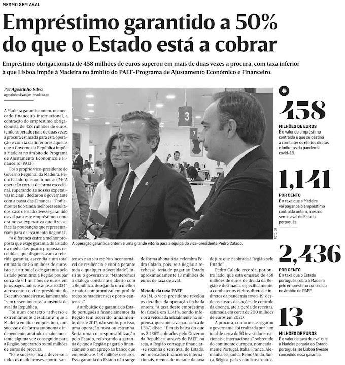 """Olavo injectado com Sputnik e Calado """"supositado"""" com empréstimo pelo JM"""