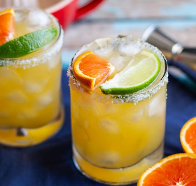 Creamsicle Margaritas #drinks #cocktails