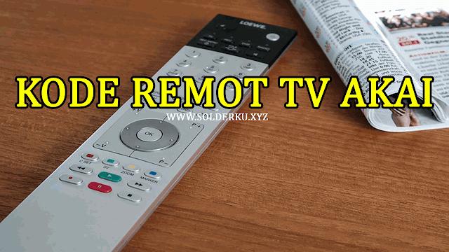 Kode Remot tv Akai