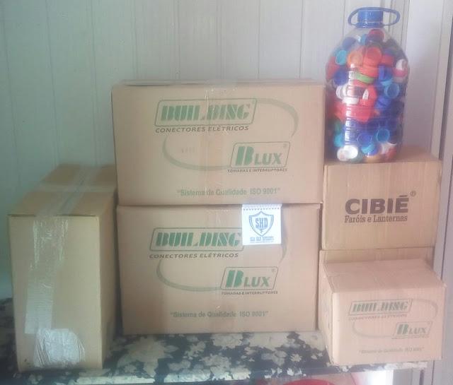 Entrega das Tampas Plásticas   Destino Recicão