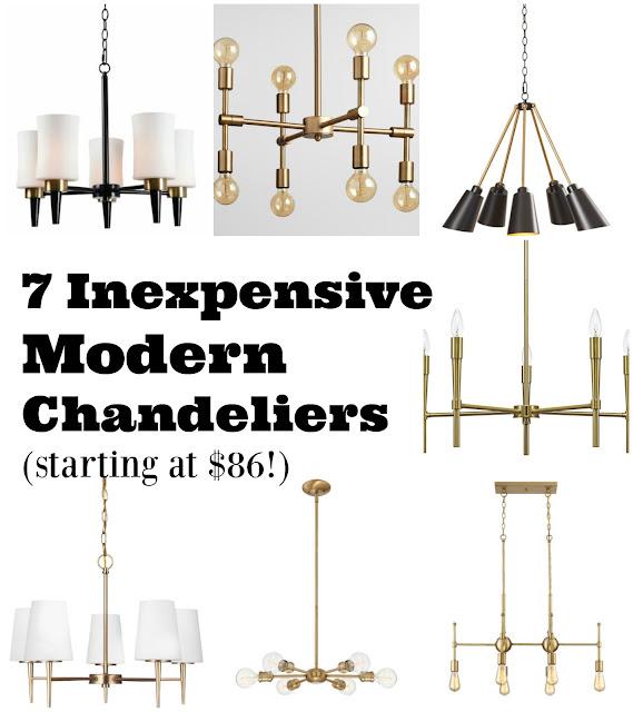 7 inexpensive modern brass chandeliers