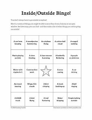 bingo activity page