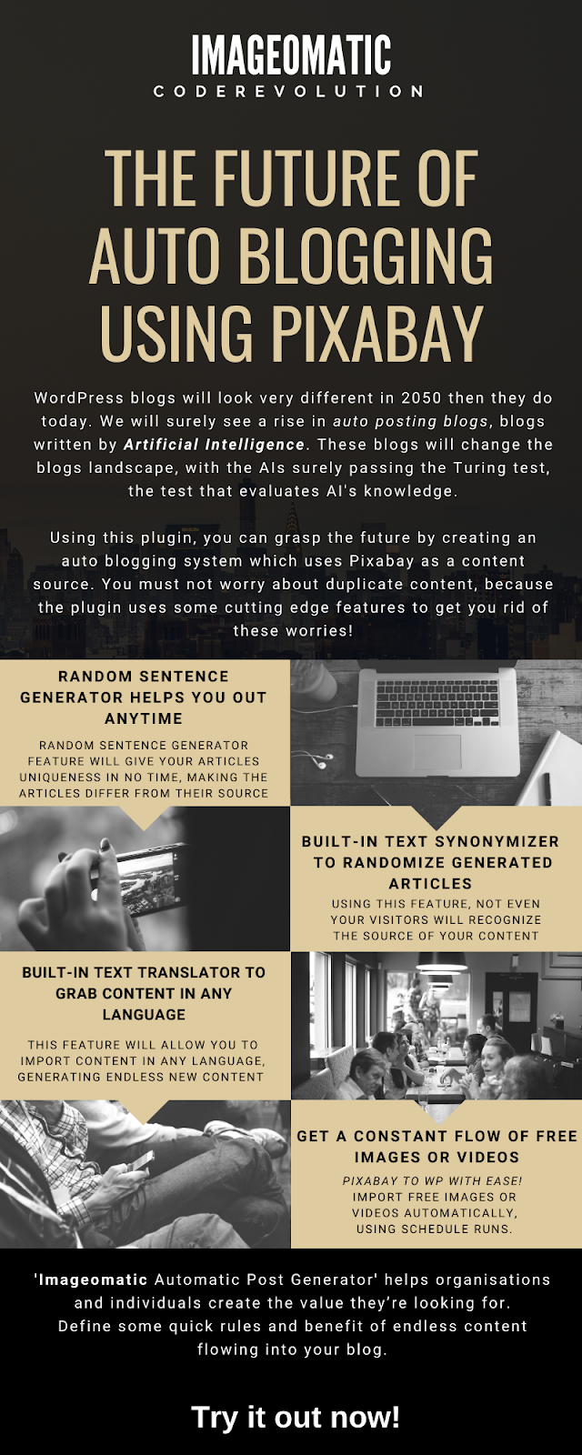 Imageomatic Royalty Free Image/Video Post Generator Plugin for WordPress