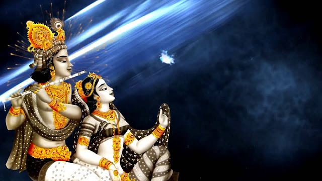 Beautiful Lord Krishna With Radha Lovely  Wallpaper For Your Computer