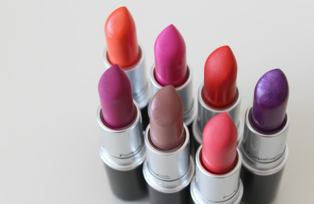 A picture of MAC lipsticks