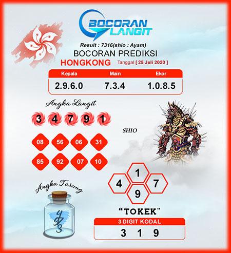 Bocoran HK Sabtu 25 Juli 2020