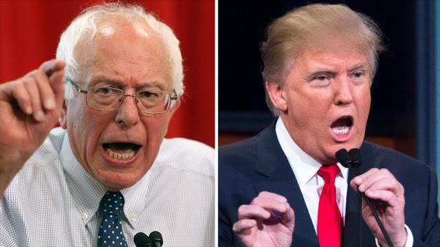 """""""¡Haz tu trabajo!"""", Sanders responde a los insultos de Trump"""