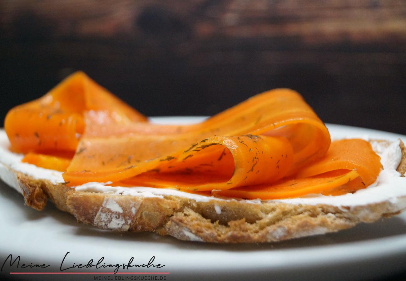 Geräuchter Lachs aus Karotten
