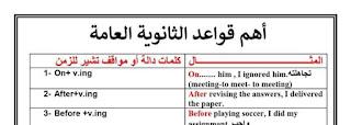 قواعد اللغة الانجليزية بشكل مختلف للصف الثالث الثانوي نظام جديد