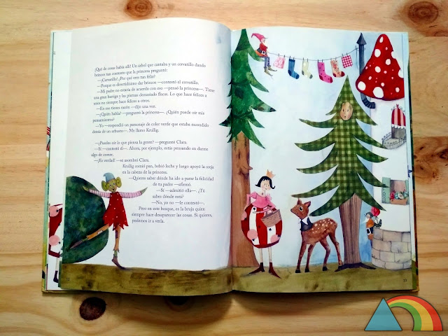 Interior del libro la princesa y la felicidad de Ikea
