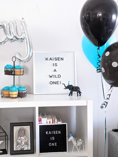 party decor for Kaisen's first birthday