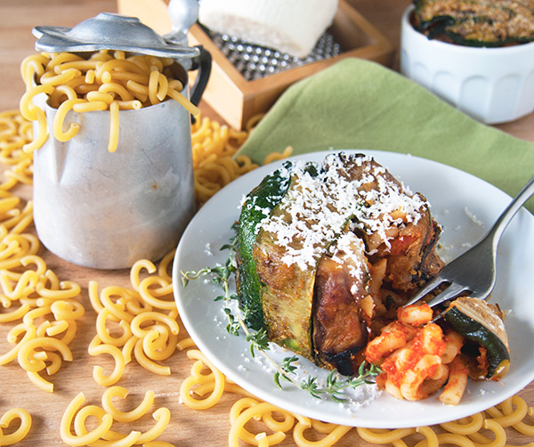 timballo di pasta vegetariano