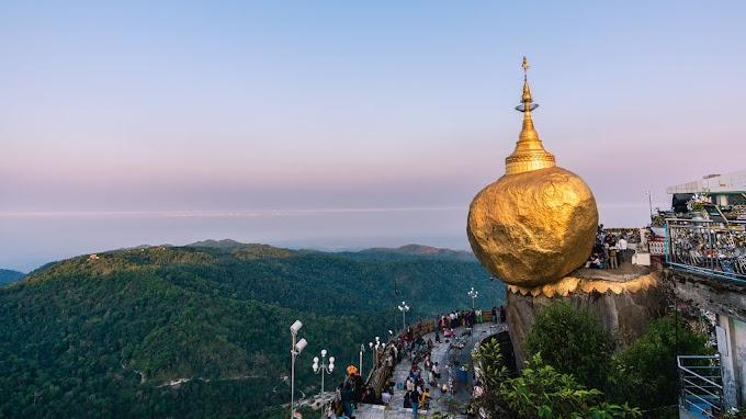 MYANMAR...KISAH BATU EMAS TERGANTUNG DAN SEHELAI RAMBUT BUDDHA!