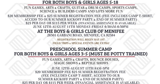 Registration now open for Boys & Girls Club summer camp