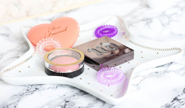 Max Factor X, Love Flush Too Faced, AfterGlow Urban Decay blush