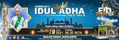 Banner Spanduk Sholat Eid PSD