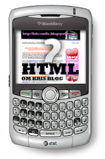 html blackberry OM Kris Blog