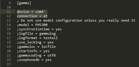Konfigurasi Devie Gammu - Install Gammu