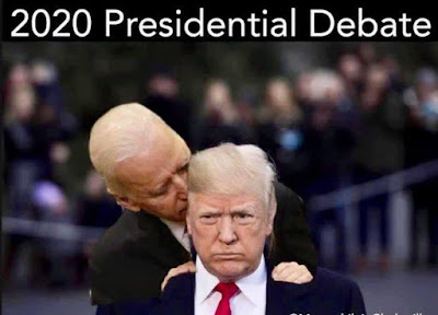 Commission on Presidential Debates Cancels Oct. 15 Debate Biden%2Bkisses%2BTrump