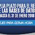 Ampliación del plazo para el registro de bases de datos
