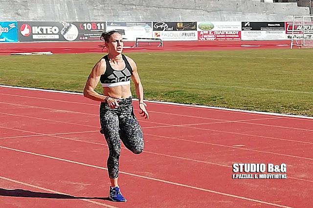 Η «miss survivor» Κατερίνα Δαλάκα ξεκίνησε προετοιμασία στο ΔΑΚ Άργους