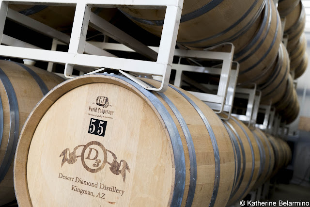 Tasting Tour Kingman Arizona Desert Diamond Distillery Aging Barrels