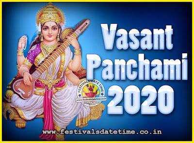 2020 Vasant Panchami Puja Date & Time, 2020 Vasant Panchami Calendar