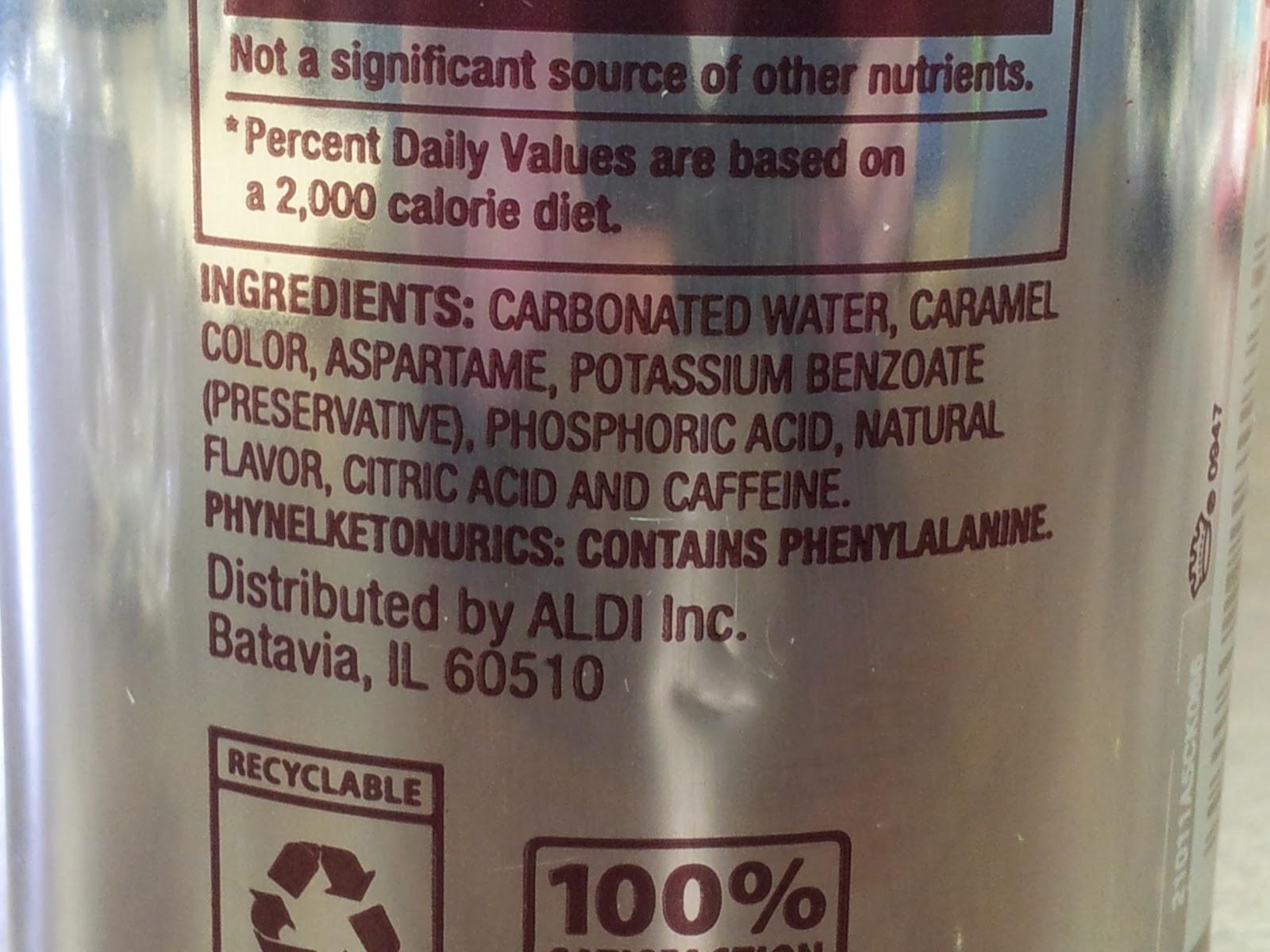 It is a graphic of Striking Diet Coke Bottle Label