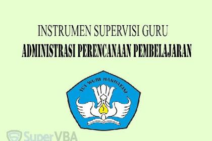 Instrumen Supervisi Administrasi (Perangkat) Guru Kurikulum 2013 Terbaru 2019
