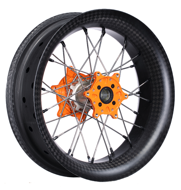 """Super Moto 17""""x500 Wheel +magnesium hubs"""