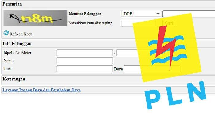 Tangkapan layar laman website www.pln.co.id