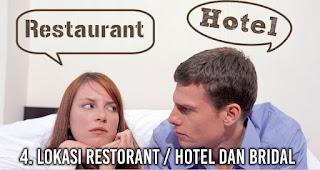 Lokasi restorant / hotel dan bridal