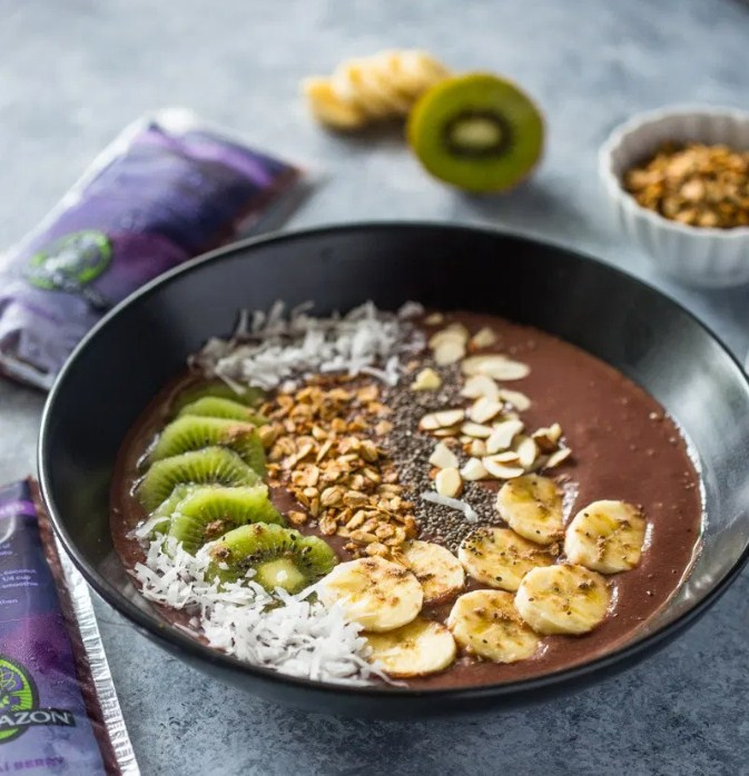 Chocolate Banana Acai Smoothie