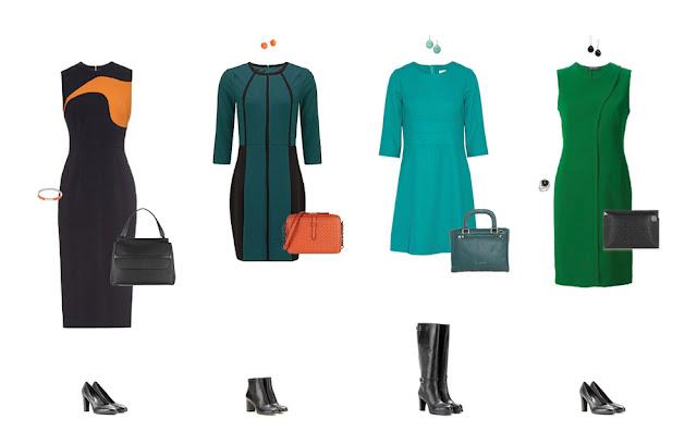 Комплекты капсульного гардероба с платьями