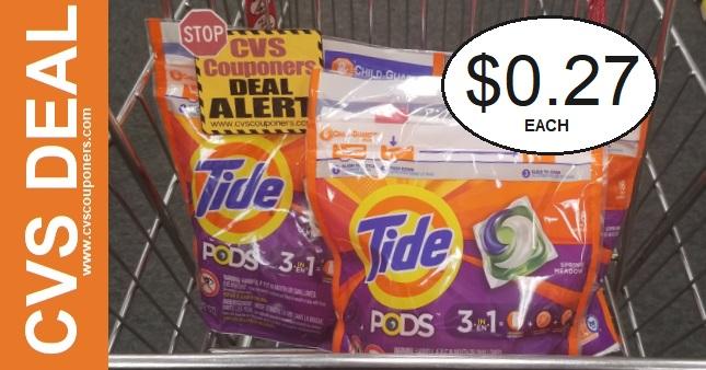 Tide Pods CVS Coupon Deal $0.27 12-29-1-4